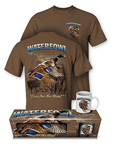 Follow the Action Waterfowl (Duck) Hunting T-Shirt and Mug Premium Gift Set (Follow Mug)
