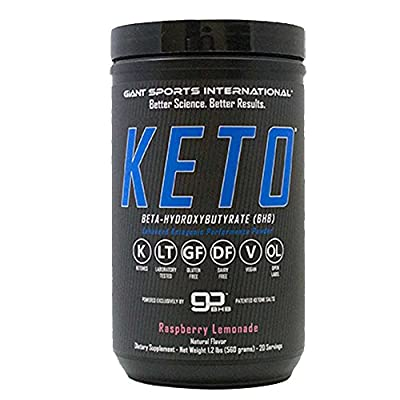 Giant Sports Giant Keto, 14.6g BHB Beta-Hydroxybutyrate Salts, Exogenous Ketone Supplement, Ketosis Inducing Weight Loss Powder, Increase and Boost Energy, 20 Servings
