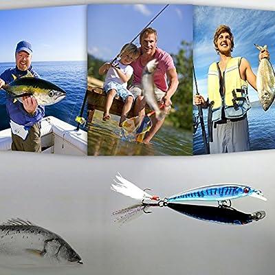 lzndeal Señuelo de 10 Piezas, Señuelo para Pescar,de Material ABS ...