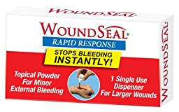 Pac-Kit by First Aid Only 90359 Woundseal Rapid Response Powder Bottle, For Larger Wounds