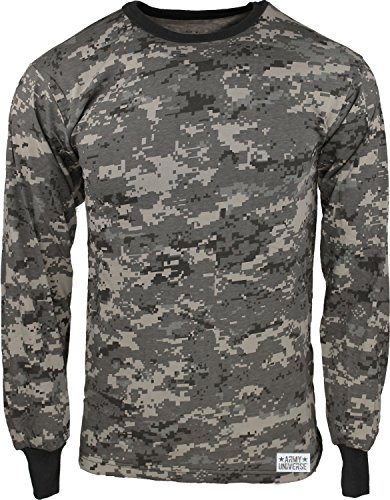 Urban Camouflage T-shirt - Army Universe Subdued Urban Digital Camouflage Long Sleeve Military T-Shirt with Pin - Size X-Large (45