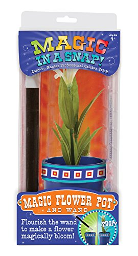 Melissa & Doug Magic in a Snap Magic Flower Pot & Wand, Multicolor ()