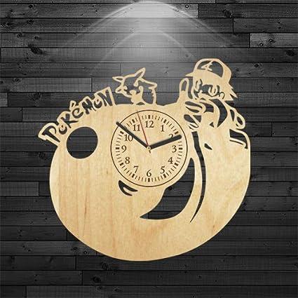 Amazon.com: Pokemon reloj de madera, regalo de cumpleaños ...