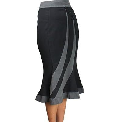 CSDttT (XS-XXL) Smooth Boss -Ships Free- Black 40s 50s Pencil Pinup Retro Skirt