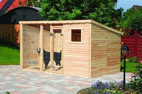 Bruno XXL – Perro de caballo, madera maciza, 543 x 226 x 192 cm, casa para perros, caseta para perros, cabaña para exterior, gran espacio