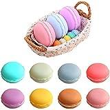 Coolrunner Colorful Mini Macaron Shape Storage Box Candy Jewelry Organizer Pill Case (small 8pcs)