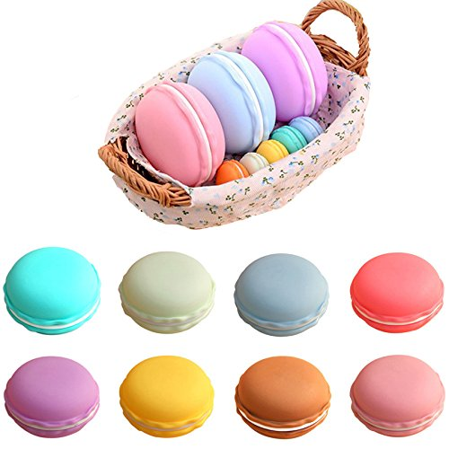 Coolrunner Colorful Mini Macaron Shape Storage Box Candy Jewelry Organizer Pill Case Container(small (Macaron Favors)