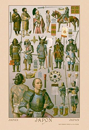 ArtParisienne Japan Ainos Military Costume Auguste Racinet 12x18 Poster Semi-Gloss Heavy Stock Paper Print ()