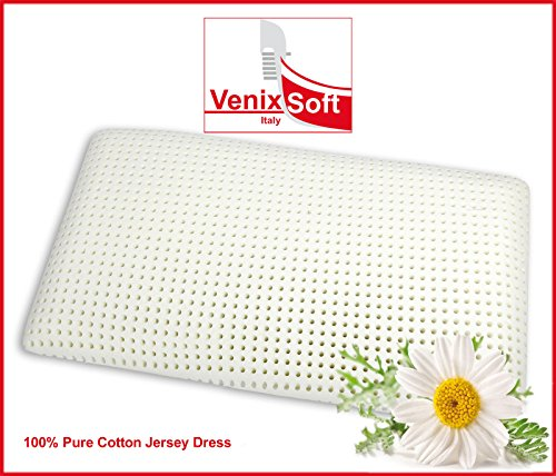 Kissen Kopfkissen VENIXSOFT Memory-Schaum (Memory Foam) Wärmeempfindliches 72cm x 42cm x 12,5cm - mit Baumwollfutter - Made in Italy
