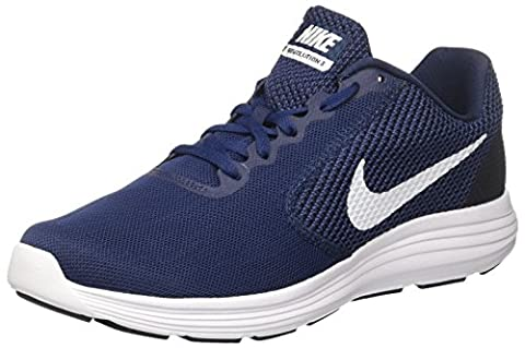 Nike Men's Revolution 3 Running Shoe, Midnight Navy/White/Obsidian, 10 M (Nike Lifestyle Scarpe)