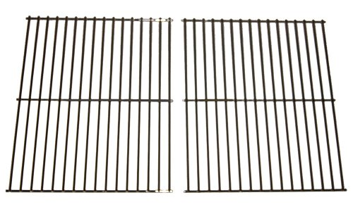 Arkla Post - Music City Metals 41102 Chrome Steel Wire Cooking Grid Replacement for Select Gas Grill Models by Arkla, Charmglow and Others, Set of 2