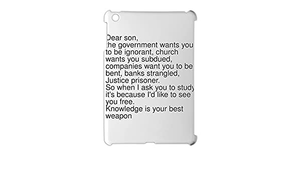 Dear son, the government wants you to be ignorant, church iPad ...