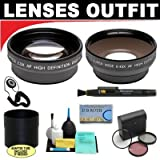 2x Digital Telephoto Professional Series Lens + 0.5x Digital Wide Angle Macro Professional Series Lens + 3 Piece Digital Camera Filter Kit + 6-Piece Deluxe Cleaning Kit + Lens Adapter Tube (If Needed) + Lenspen + Lens Cap Keeper + DB ROTH Micro Fiber Cloth For The Kodak Easyshare DX7630, Z760 Digital Cameras
