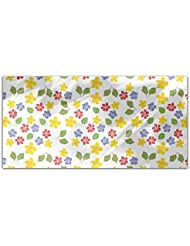 My Cottage Flowers Rectangle Tablecloth Large Dining Room Kitchen Woven Polyester Custom Print