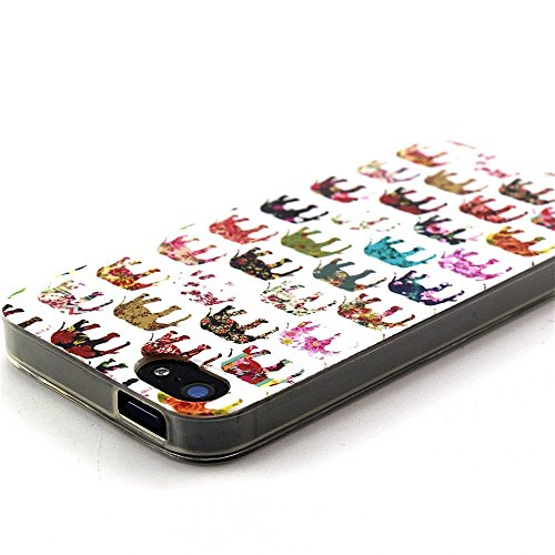 Vanki® Fundas iPhone 5S 5 SE, Suave TPU Funda Parachoques Funda Absorción de Impactos y Anti-Arañazos Case Cover Carcasa Para iPhone 5S 5 SE 5