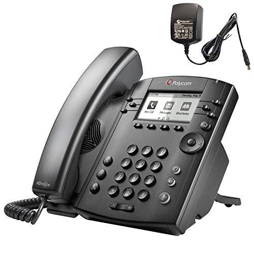 Polycom HD Voice VVX 300 Premium Business Media IP Phone (PoE plus Power Supply) 2200-46135-001
