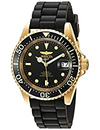 Invicta Men's 'Pro Diver' Automatic Gold-Tone and Stainless Steel Casual Watch, Color:Black (Model: 23681)