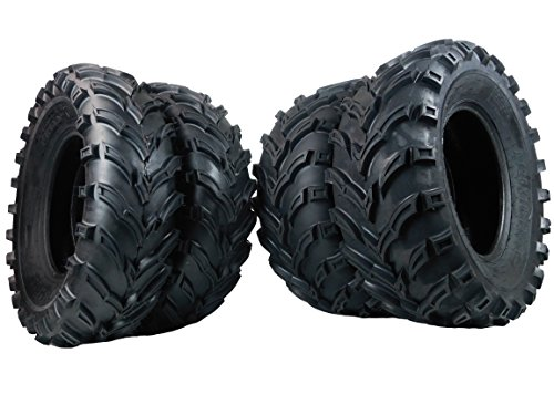 New 4 Set of MASSFX MS Claw 25x10-12 Rear 25x8-12 Front ATV Tires Bear 6ply K299 (Yamaha Bear 2003 Tires 400 Big)