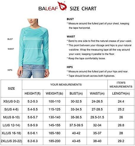 BALEAF Women's Long Sleeve Shirts UPF 50+ Sun Protection SPF Dri Fit Lightweight T-Shirt Outdoor Hiking Runing Fishing