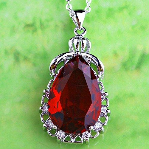 nbow Topaz Sapphire Quartz Gemstone Silver Pendant Necklace Ruby Spinel ()