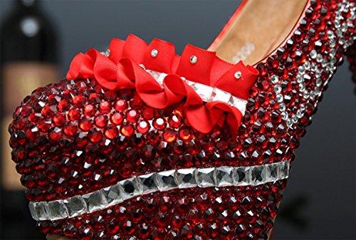 qualité De De Stiletto Plateforme color MariéE Femmes bonne MariéE CréMaillèRe Chaussures Cristal MNII Haut Mariage MariéE Dentelle Chaussures Talon En Designer De qRW1Un8Pw