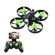 Koeoep Micro RC Quadcopter Drone with Camera, Air Pressure Altitude Hold&Headless Gravity Sensor Helicopter