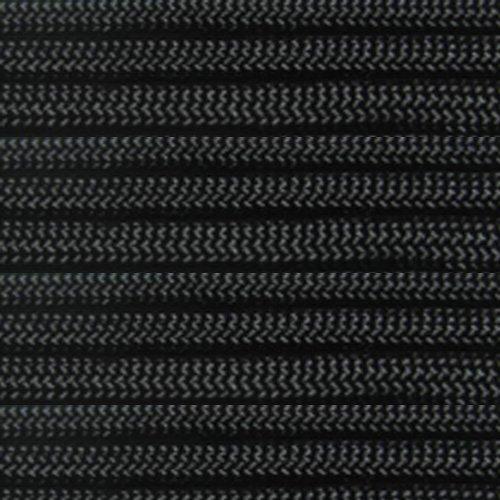 Marine Masters 5, 10, 20, 25, 35, 50, 60 75 90 100, 250 300 500 Hanks & 1000 Spools of Black Paracord 550 Cord Type III 7 Strand Core Black