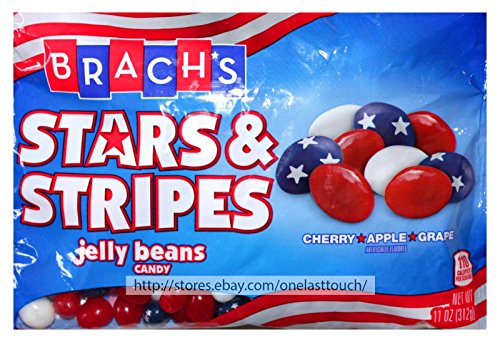 BRACH'S 11 oz Bag STARS & STRIPES Red White Blue JELLY BEANS