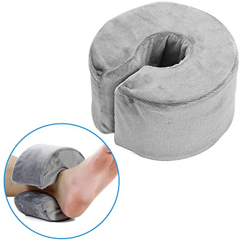 Foot Elevation Pillow Ankle Support Foot Elevator Cushion Pillows Foam Foot Heel Elevator Wedge Medical Ankle Rest Protector Sleeping Surgery Recovery for Preventing Bed Sore and Ulcers