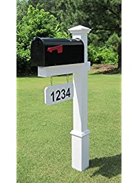 the fitzgerald vinyl pvc mailbox post includes mailbox - Decorative Mailboxes