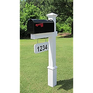 The Fitzgerald Vinyl / PVC Mailbox Post (Includes Mailbox)