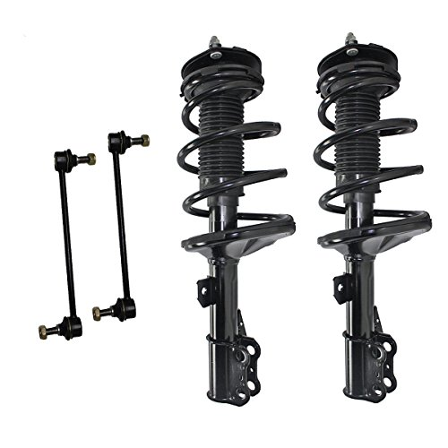 Detroit Axle - 4pc Front Strut & Coil Spring w/Sway Bar Link Kit for 2002-2003 Toyota Camry - [2002-2003 Lexus ES300]