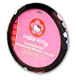Plasticolor Officially Licensed Hello Kitty Steering Wheel Cover