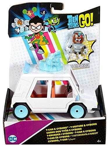 DCTT Teen Titans Go  TCar & Cyborg 2.75Inch Figure & Vehicle