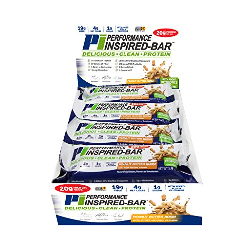 Performance Inspired Nutrition Bar, Peanut Butter Boom, 12 Count