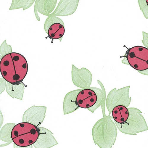 LADYBUG TISSUE PAPER, Style 2 - Printed Tissue Paper for Gift Wrapping with Design, 24 Large Sheets (Ladies Tissue)