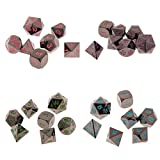 MonkeyJack 28Pcs Polyhedral Dice D4-D20 Die Red Green Purple Blue for Role Playing Game