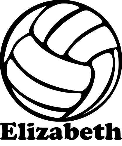 Minglewood Trading Volleyball Vinyl Decal Sticker with Custom Personalized Name 6