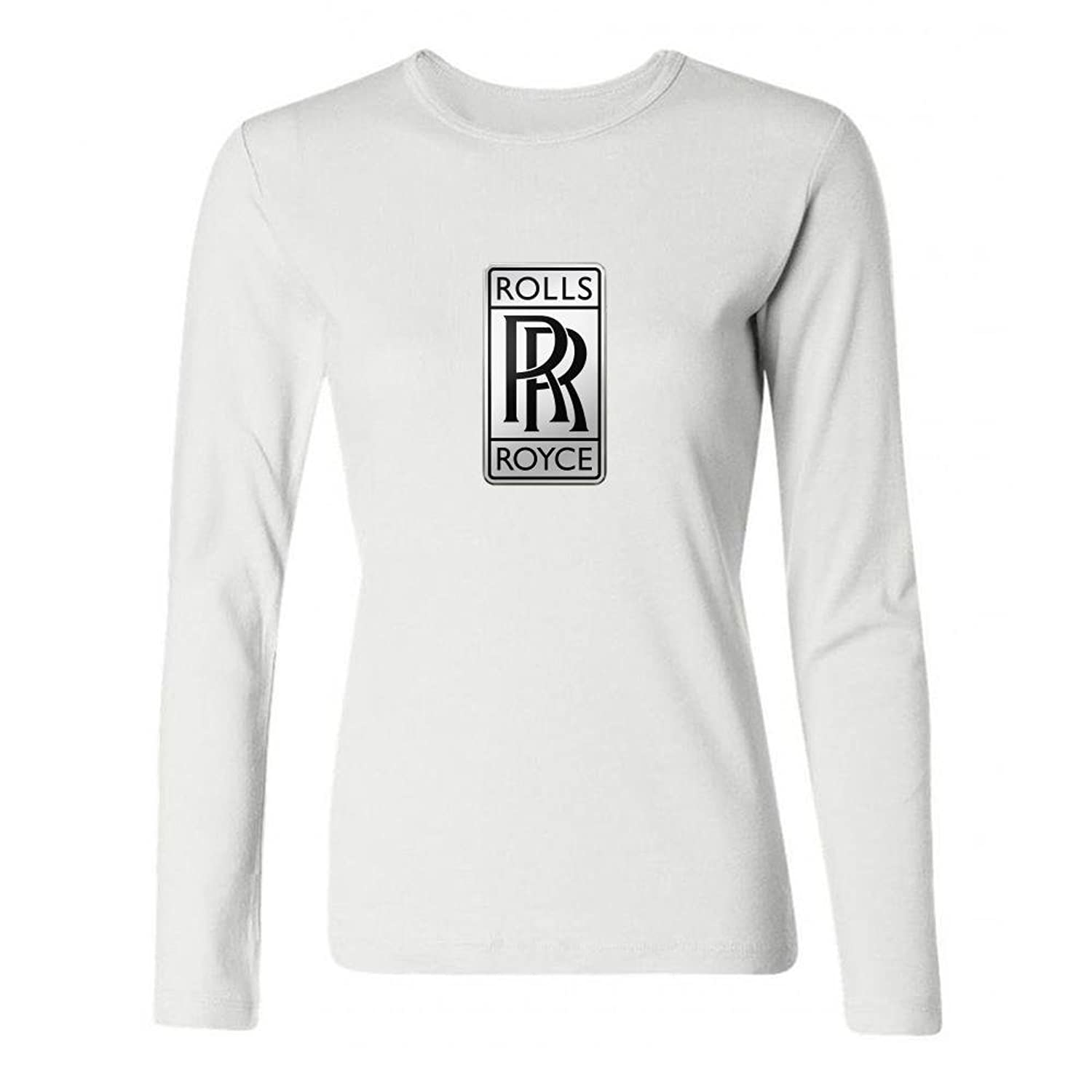Fashion Design WorldAuto Logo Rolls Royce Women's Long Sleeve T-Shirt