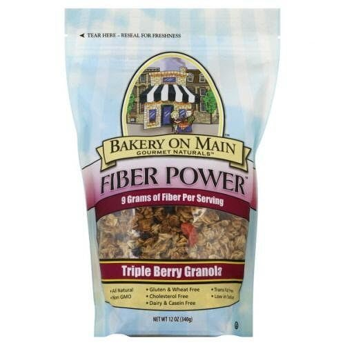 Bakery On Main Gluten-Free Fiber Power Granola, Triple Berry, 12 Ounce Bag (3 Count)