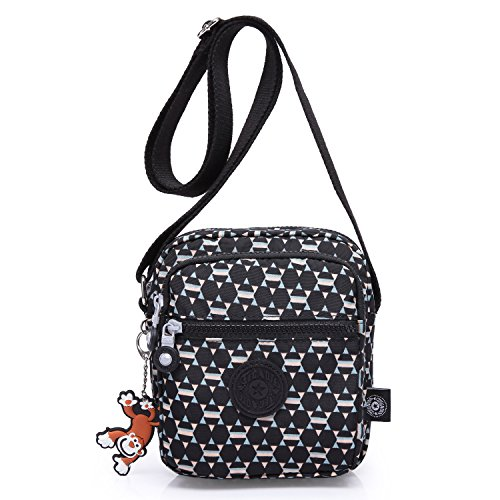 Foino Women Cross Body Bag Small Shoulder Bag Designer Travel Messenger Bag Fashion Side Pack for Girls Sport Satchel Black 1