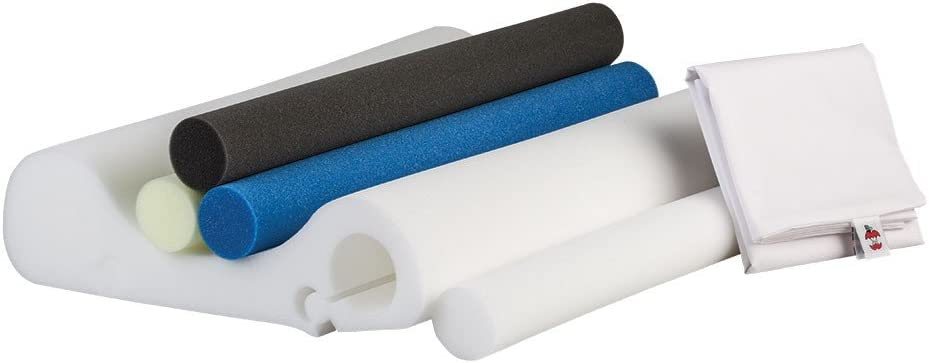 Core Products Double Core Select Foam Cervical Support Pillow, 4 Interchangeable Orthopedic Support Rolls & Pillowcase Included