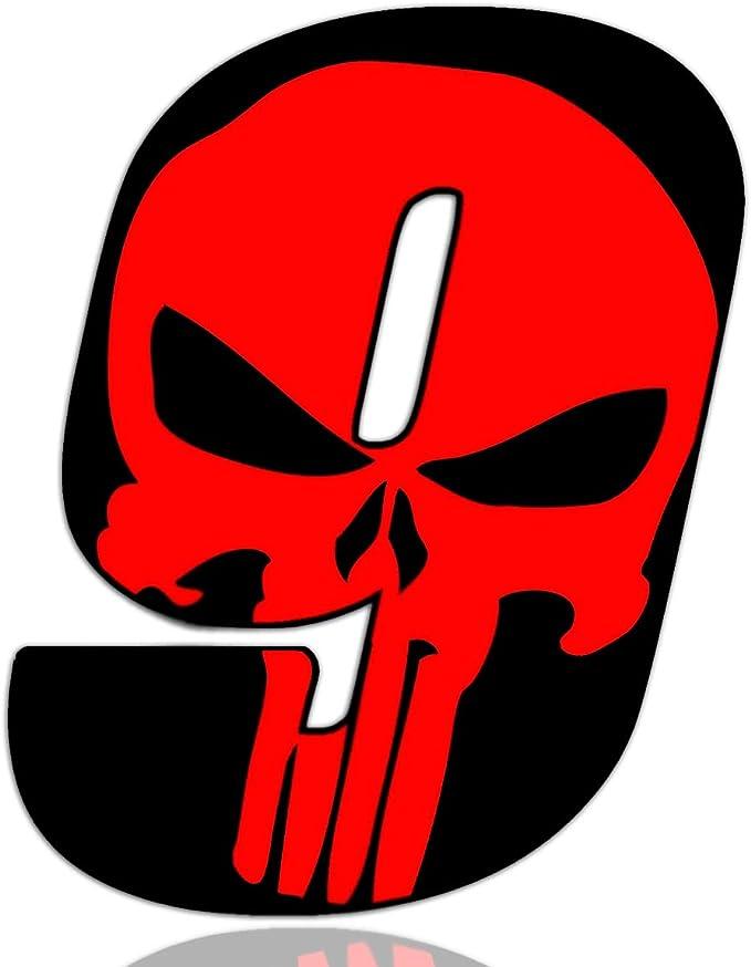 Biomar Labs® Número 9 Punisher Calavera Vinilo Adhesivo Pegatina Coche Auto Motocross Moto Sport Start Racing Tuning N 359: Amazon.es: Coche y moto