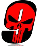 Biomar Labs® Número 9 Punisher Calavera Vinilo Adhesivo Pegatina Coche Auto Motocross Moto Sport Start Racing Tuning N 359