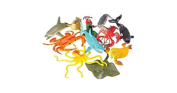 Amazon.com: Figuras de animales de juguete acuático – 11 ...