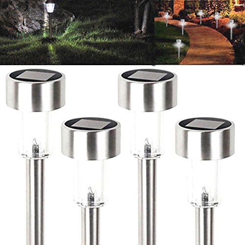 16-x-outdoor-led-white-bright-lawn-stainless-steel-solar-light-path-garden-lamp