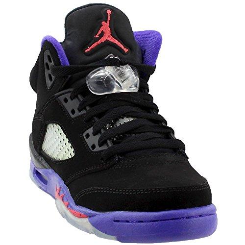 n 5 Retro GG Raptor Black/Ember Glow-Fierce Purple Leather Size 4.5Y (Authentic Nike Air Jordan Shoes)