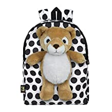 Plush Stuffed Lion Toy Doll with Pull Out Backpack, White, One Size