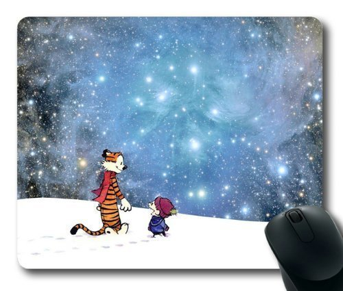 Let's Go Exploring Calvin and Hobbes Mouse Pad/Mouse Mat Rectangle by ieasycenter