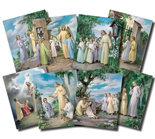 (The Ten Commandments Illustrated Cardstock Poster Set, 10 Pieces, 10 Inch)